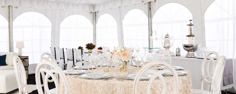 Stupendous Fabric Lined Tent With White Infinity Chairs Crystal Lamtechconsult Wood Chair Design Ideas Lamtechconsultcom