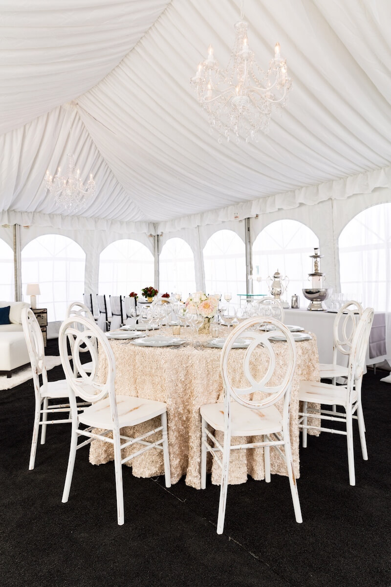 Awe Inspiring Fabric Lined Tent With White Infinity Chairs Crystal Lamtechconsult Wood Chair Design Ideas Lamtechconsultcom