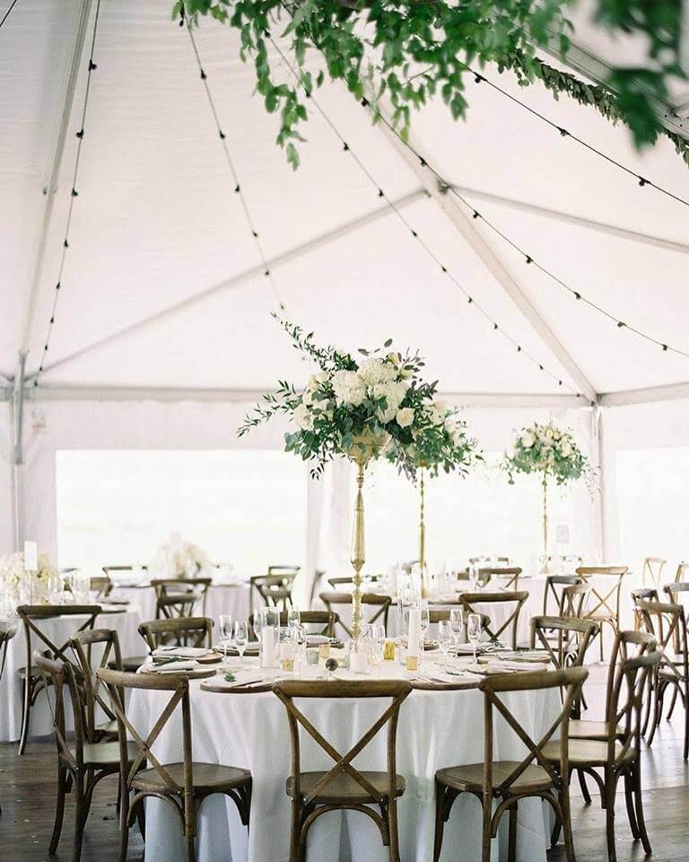 Wedding With White Tent: Life Events & Wedding Rentals